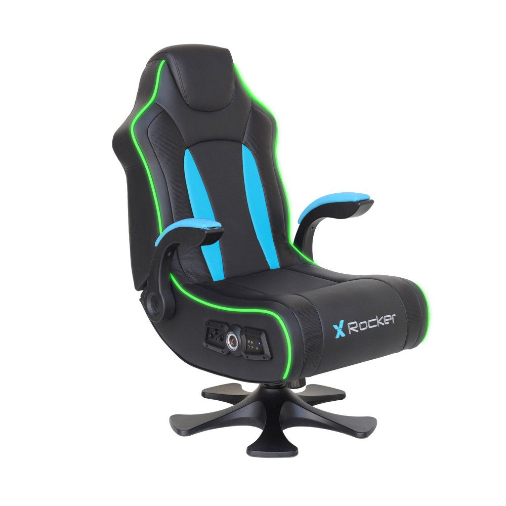 Image of Cxr3 Dual Audio Gaming Chair Black/Teal - X Rocker