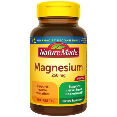Nature Made Magnesium 250 mg Tablets - 200ct