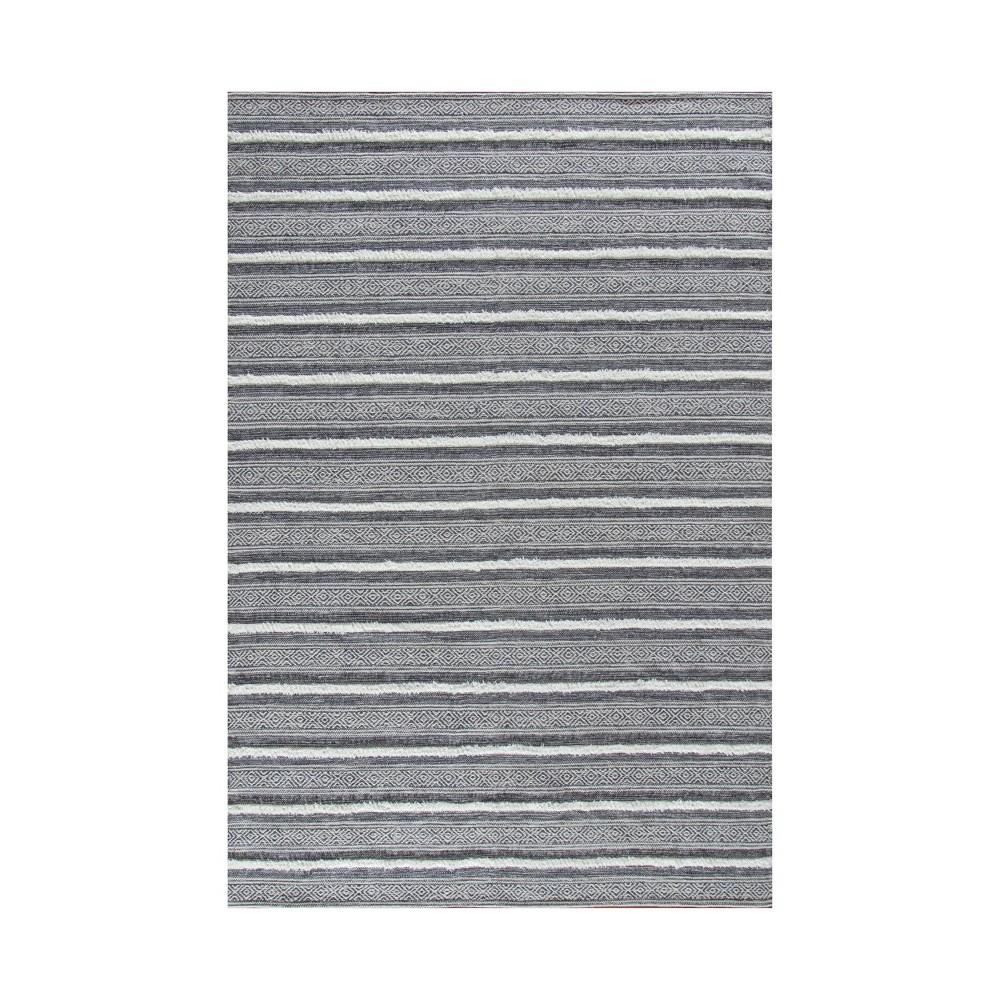 4 39 X6 39 Corrina Cotton Rug Charcoal Gray Natural Anji Mountain