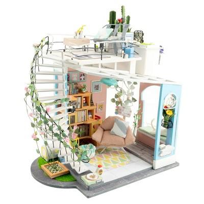 Hands Craft DIY 3D Wooden Puzzles - Miniature House: Dora's Loft