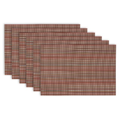 6pk Brown Placemat 13 x19  - Design Imports