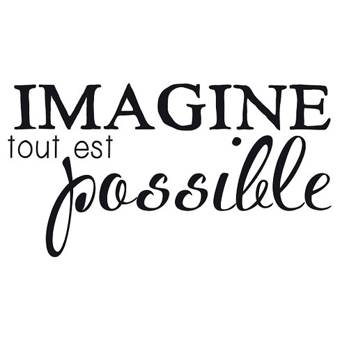Imagine Wall Decal - Black - image 1 of 2
