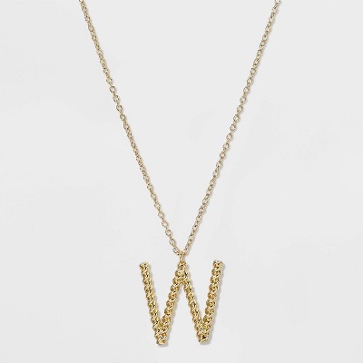 SUGARFIX by BaubleBar Initial Pendant Necklace