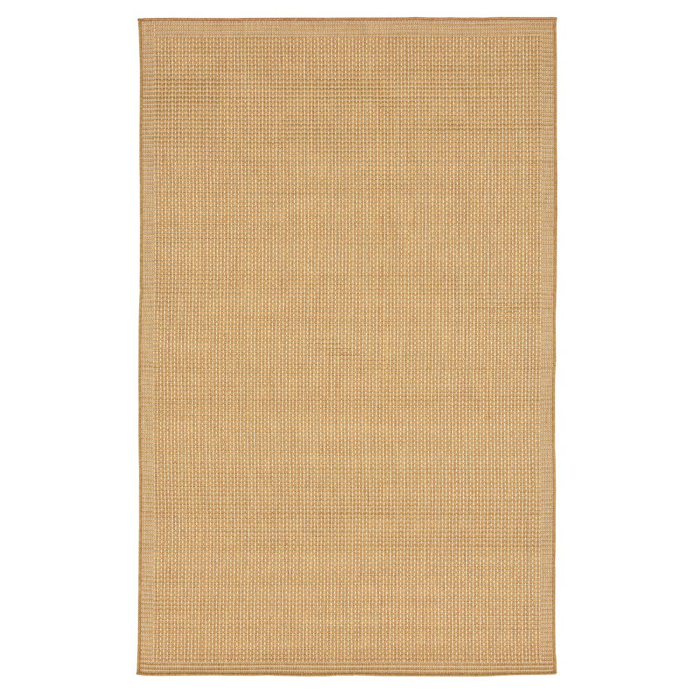 "Image of ""Camel Solid Woven Area Rug - (7'10""""x9'10"""") - Liora Manne"""