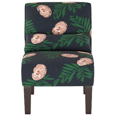 Burke Slipper Chair Indigo Floral - Threshold™