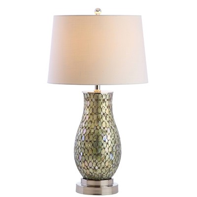 Crystal/Metal Mark Table Lamp (Includes LED Light Bulb) Green - JONATHAN Y
