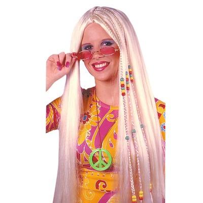 Braided Hippie Costume Wig Golden