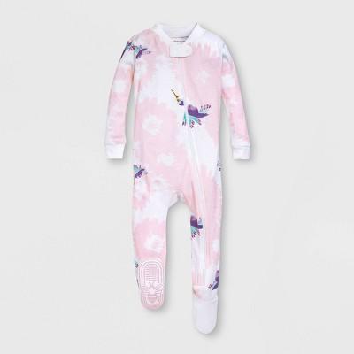 Burt's Bees Baby® Baby Girls' Hummingbird Splatter Organic Cotton Footed Sleeper - Light Purple 12M