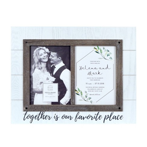 """5"""" x 7"""" Two Openings Wedding Picture Frame White - New View - image 1 of 3"""