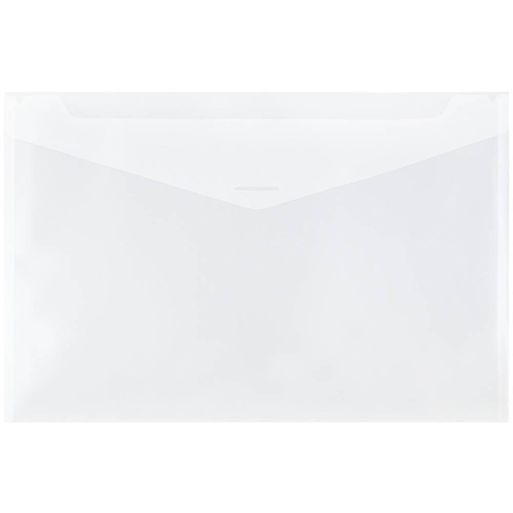 Jam Paper 12'' x 18'' 12pk Plastic Envelopes with Tuck Flap Closure, Booklet - Clear