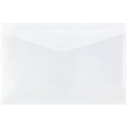 JAM Paper 12'' x 18'' 12pk Plastic Envelopes with Tuck Flap Closure, Booklet - Clear - image 1 of 2