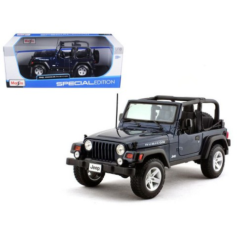 af9011ac802 Jeep Wrangler Rubicon Deep Blue 1/18 Diecast Model Car By Maisto : Target
