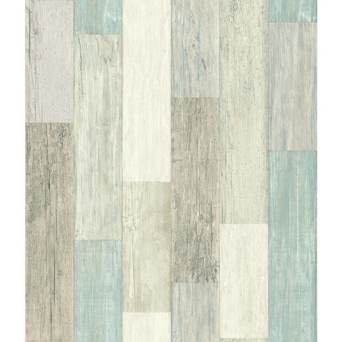 Roommates Coastal Weathered Plank Peel Stick Wallpaper Target