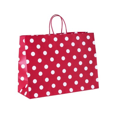 Large Dots Gift Bag Red - Spritz™