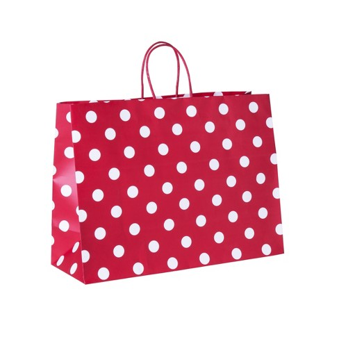 Vogue Dots Gift Bag Red - Spritz™ - image 1 of 1