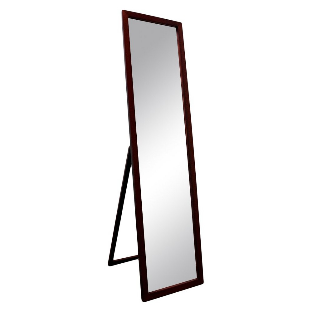 Image of Floor Mirror Brown - Ore International, Black