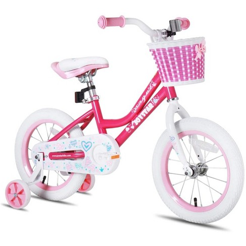 Joystar Angel 14 Inch Kids Toddler Training Bike Bicycle with Training Wheels, Rubber Air Free Tires, and Coaster Brake, Ages 3 to 5, Pink - image 1 of 4