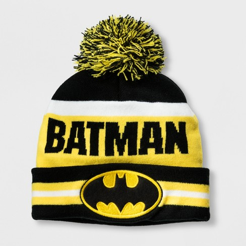 Boys  DC Comics Batman Cuffed Pom Beanie - Black One Size   Target cf6e77dfb0f