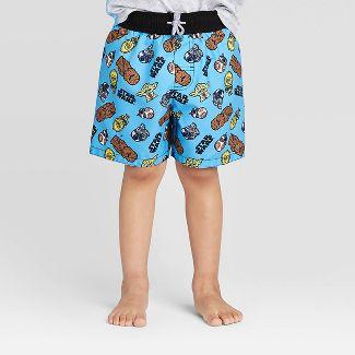 Toddler Boys' Star Wars Swim Trunks - Blue 5T