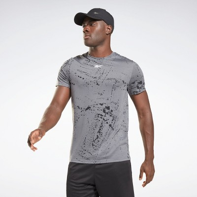 Reebok Workout Ready Allover Print T-Shirt Mens Athletic T-Shirts