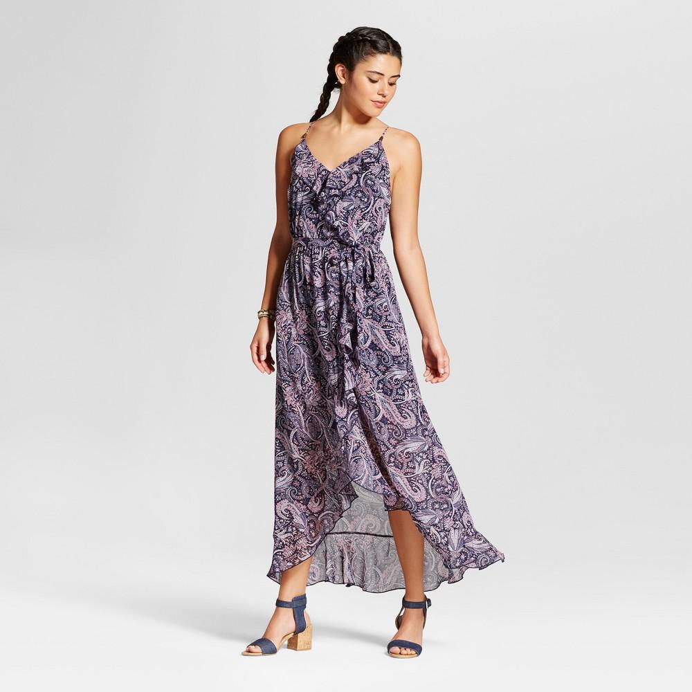 Women's Ruffle Maxi Dress - Xhilaration (Juniors') Indigo (Blue) S