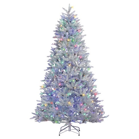 6ft american upside down artificial christmas half tree full with white led lights target - 6 Ft Lighted Christmas Tree