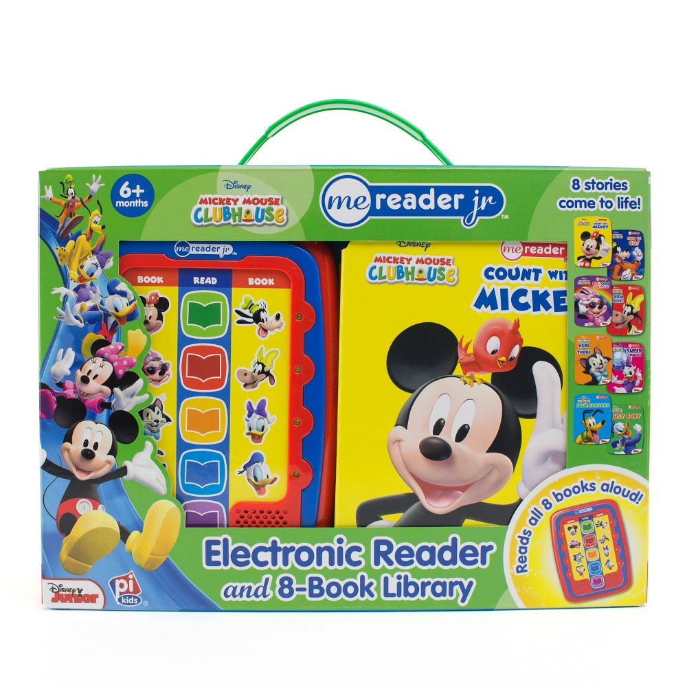 Disney Mickey Mouse Clubhouse Electronic Me Reader Jr Story Reader and 8-book Boxed Set