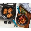 Rachael Ray Create Delicious 2pc Hard Anodized Aluminum Frying Pan Set Teal Handles - image 2 of 4