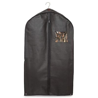 Juvale 4-Piece Set Hanging Garment Bags Suit Protector for Closet Storage & Travel, 3 Suit Bags & 1 Shoe Bag, Black