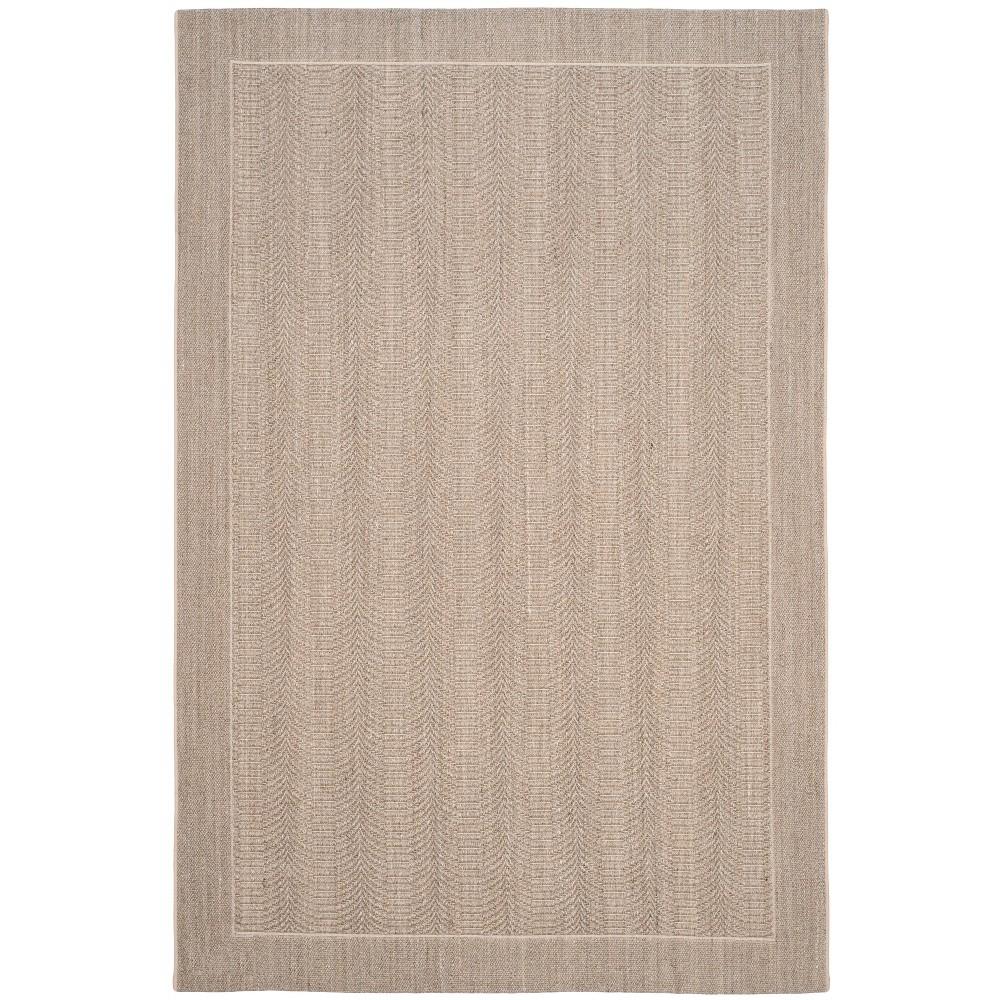 8'X10' Solid Loomed Area Rug Desert Sand/Light Gray - Safavieh