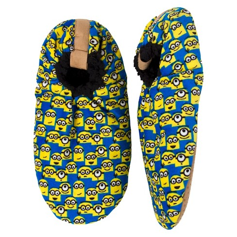Men's Minions Slipper Socks Blue - image 1 of 1