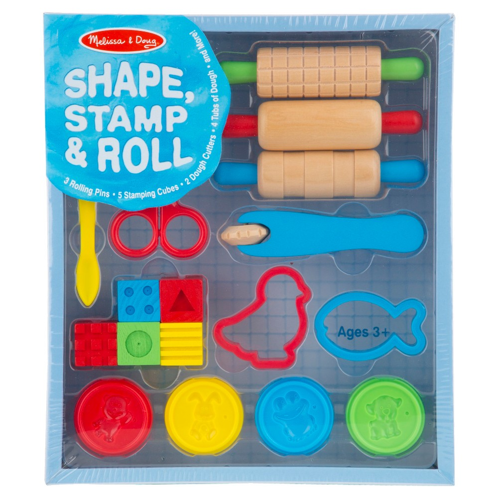 Melissa & Doug Shape, Stamp & Roll Clay Play Set
