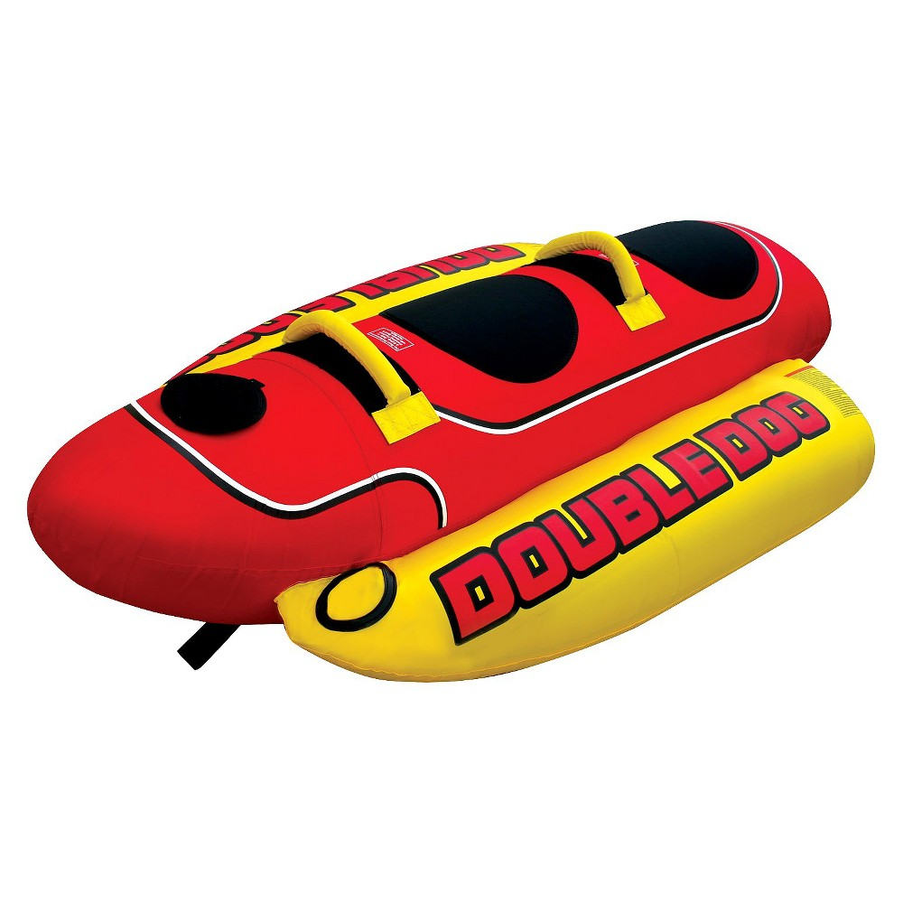 Image of Airhead Double Dog Towable - Red/Black/Yellow