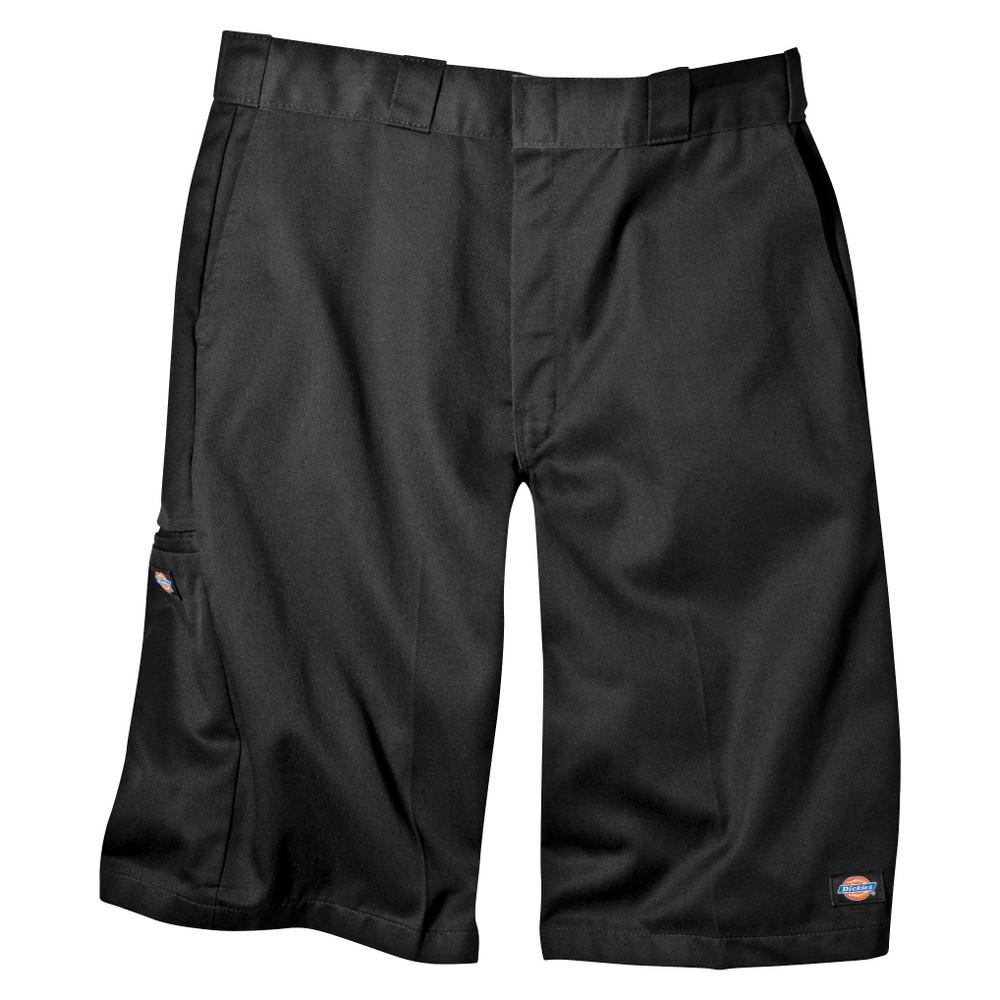 Dickies Men's Big & Tall Loose Fit Twill 13 Multi-Pocket Work Shorts- Black 46