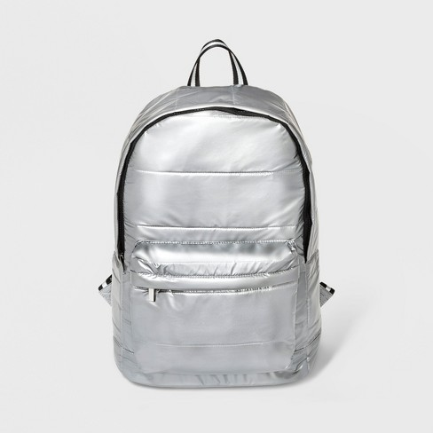 Quilted Dome Backpack - Wild Fable™ Silver   Target fc26bca686c50
