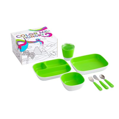 Munchkin Color Me Hungry Splash Dining Set - Green