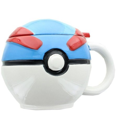 Just Funky Pokemon Great Ball Molded Mug with Lid - image 1 of 3