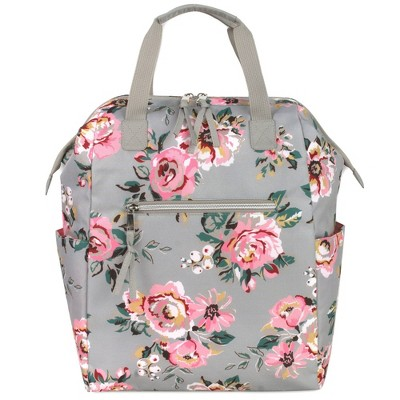 Baby Essentials Floral Frame Backpack - Gray