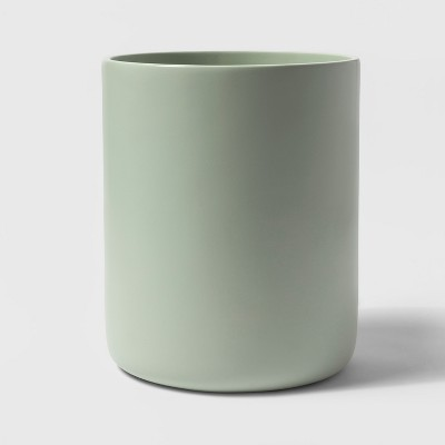 Resin Bathroom Wastebasket Silver Green - Project 62™