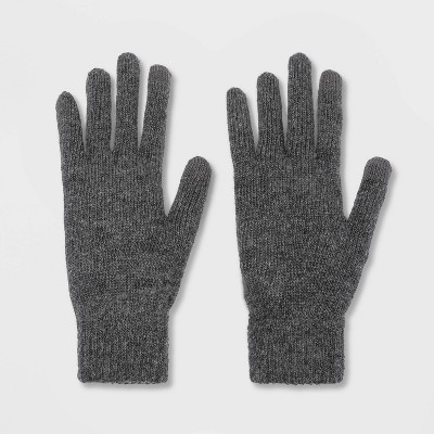 Men's Knit Gloves - Goodfellow & Co™ Charcoal Heather One Size