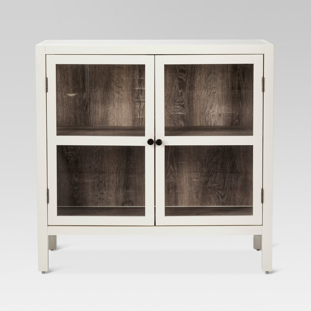 Hadley 2-Door Accent Cabinet Shell (White) - Threshold