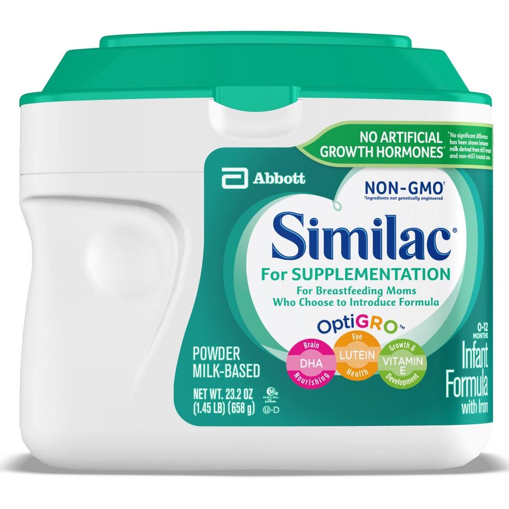 Similac for Supplementation Non-Gmo Infant Formula Powder with Iron - 23.2oz