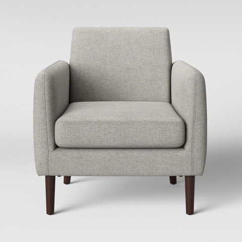 Peachy Jakarta Modern Arm Accent Chair Light Gray Project 62 Machost Co Dining Chair Design Ideas Machostcouk