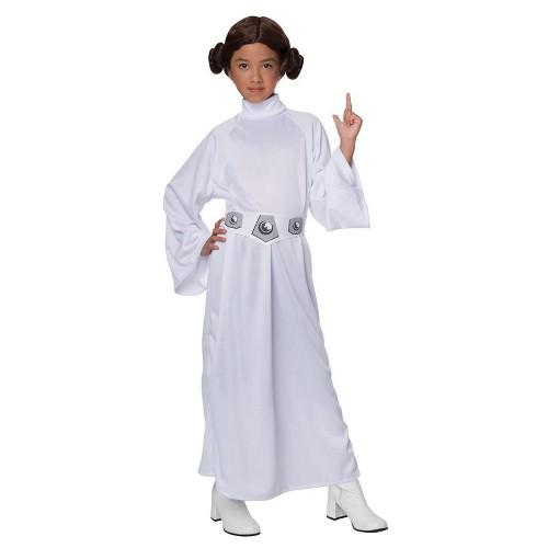 Halloween Star Wars Princess Leia Girls' Costume - Medium (7-8), Girl's, Size: Medium(7-8), White