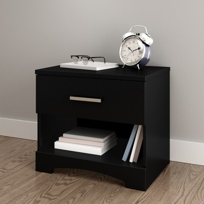 Gramercy 1 Drawer Nightstand Pure Black - South Shore