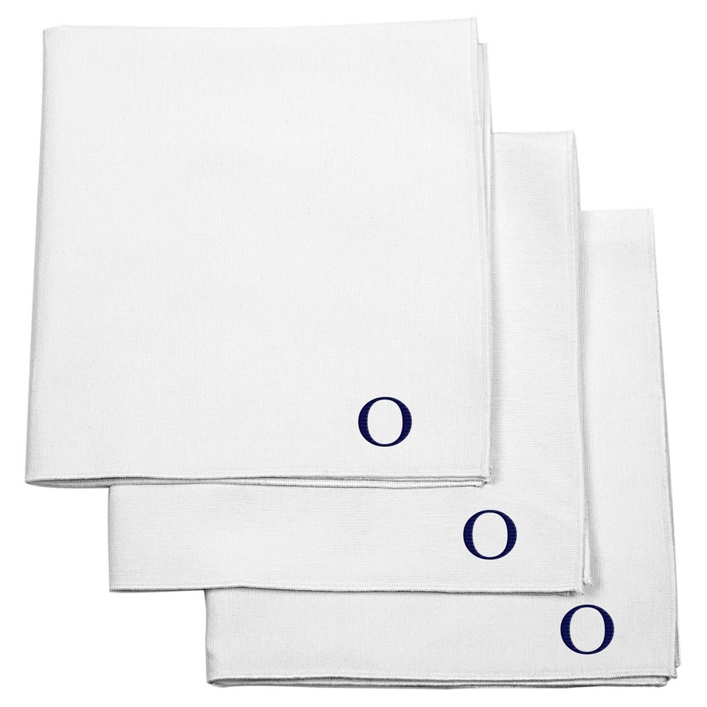 Monogram Groomsmen Gift Handkerchief Set - O, White