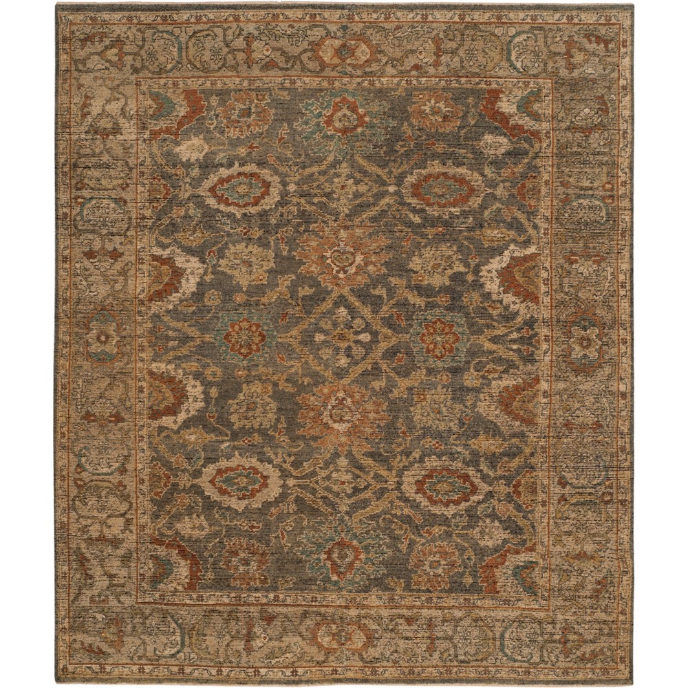 8'X10' Floral Knotted Area Rug Gray/Beige - Safavieh