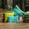 "25"" Aruba Stripe Floor Pillow Blue - Pillow Perfect - image 2 of 3"