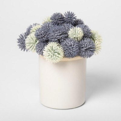7.5  x 7  Potted Artificial Thistle Blue/White - Threshold™