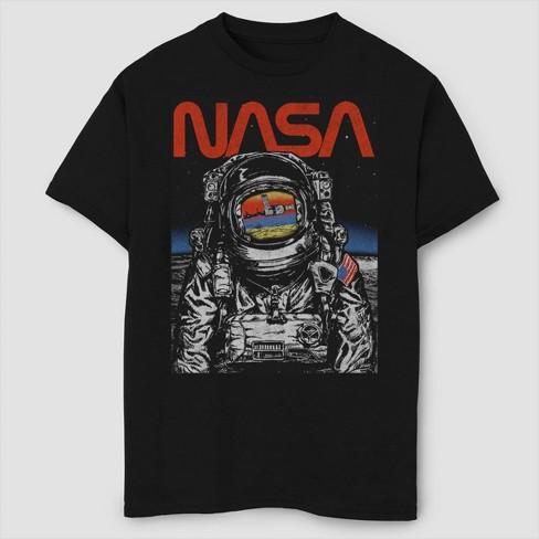 Boys' NASA Moon Reflection T-Shirt - Black XS - image 1 of 2